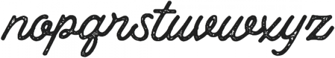 Thistails Rough otf (400) Font LOWERCASE