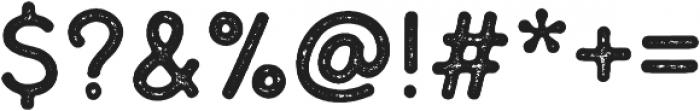 Thistails Sans Rough Regular otf (400) Font OTHER CHARS