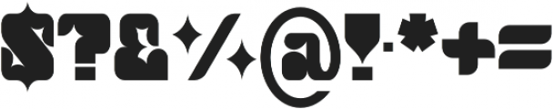 Thorny Regular otf (400) Font OTHER CHARS