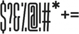Thread Regular otf (400) Font OTHER CHARS