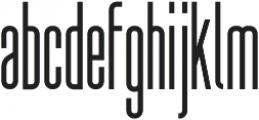 Thread Regular otf (400) Font LOWERCASE