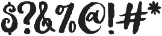 Thriftshop Brush Script otf (400) Font OTHER CHARS