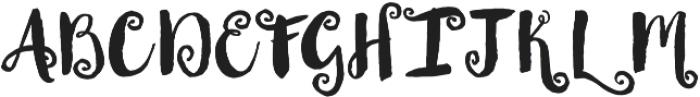 Thriftshop Brush Script otf (400) Font UPPERCASE