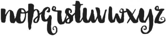 Thriftshop Brush Script otf (400) Font LOWERCASE