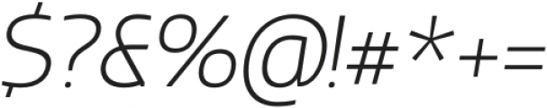 Thrifty-ExtraLightItalic otf (200) Font OTHER CHARS