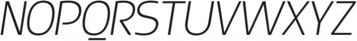 Thrifty-ExtraLightItalic otf (200) Font UPPERCASE