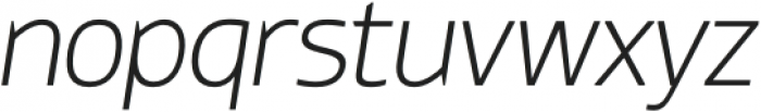 Thrifty-ExtraLightItalic otf (200) Font LOWERCASE