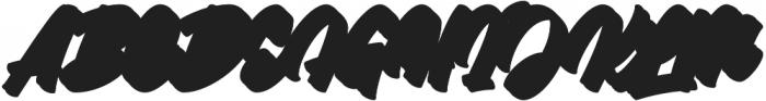 Throttles Shadow Regular otf (400) Font UPPERCASE