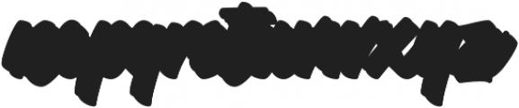 Throttles Shadow Regular otf (400) Font LOWERCASE