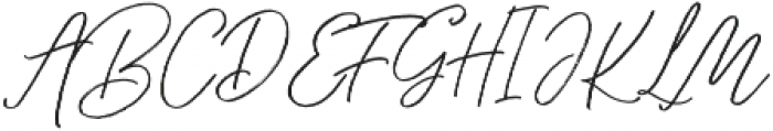 Through Brush otf (400) Font UPPERCASE