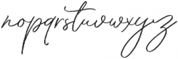 Through Brush otf (400) Font LOWERCASE