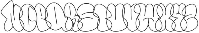 Throws-Line Regular otf (400) Font UPPERCASE