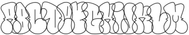 Throws-Line Regular otf (400) Font LOWERCASE