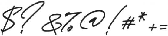 Thunder Stone Script otf (400) Font OTHER CHARS