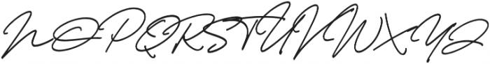 Thunder Stone Script otf (400) Font UPPERCASE