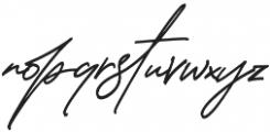 Thunder Stone Script otf (400) Font LOWERCASE