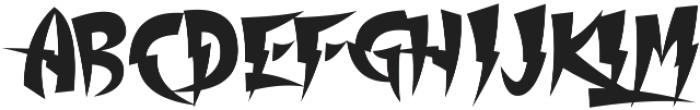 Thundercover otf (400) Font UPPERCASE
