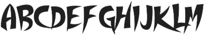 Thundercover otf (400) Font LOWERCASE