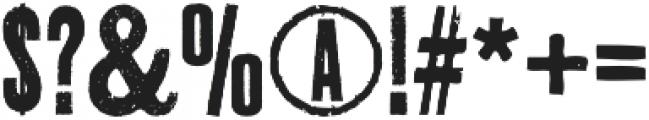 Thunderhouse Regular otf (400) Font OTHER CHARS