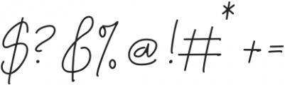 Thunderlightning Script Pen otf (300) Font OTHER CHARS