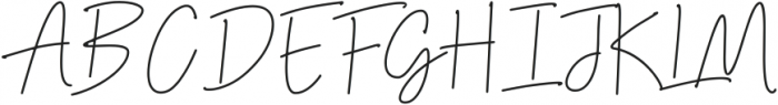 Thunderlightning Script Pen otf (300) Font UPPERCASE