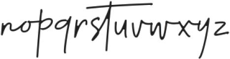 Thunderlightning Script Pen otf (300) Font LOWERCASE