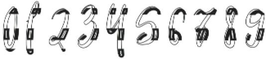 Thunderly Regular otf (400) Font OTHER CHARS