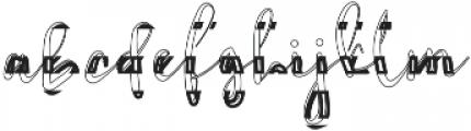 Thunderly Regular otf (400) Font LOWERCASE