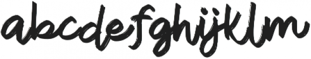 Thune otf (400) Font LOWERCASE
