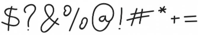 Thuong Regular otf (400) Font OTHER CHARS