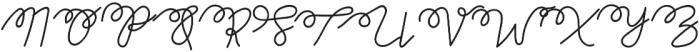Thuong Regular otf (400) Font UPPERCASE