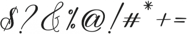 Thuressia Script Regular otf (400) Font OTHER CHARS