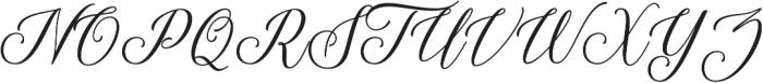 Thuressia Script Regular otf (400) Font UPPERCASE