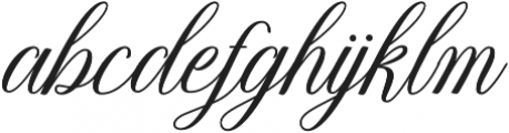 Thuressia Script Regular otf (400) Font LOWERCASE
