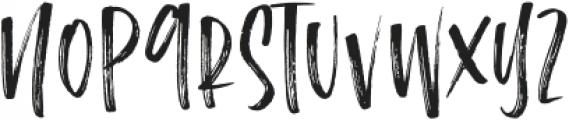 the Notebook Brush otf (400) Font UPPERCASE