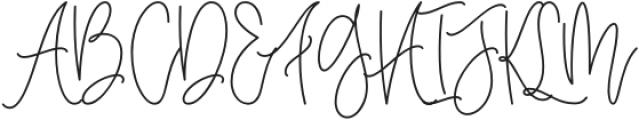 the Notebook Script otf (400) Font UPPERCASE
