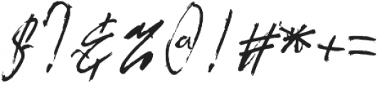 the flashter otf (400) Font OTHER CHARS