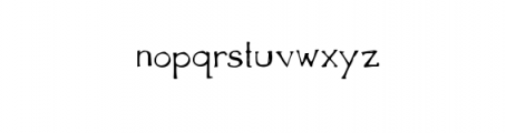The Anomali Typeface Font LOWERCASE