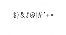 The Grateful Script Font OTHER CHARS