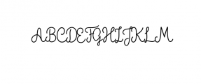 The Grateful Script Font UPPERCASE