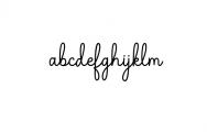 The Grateful Script Font LOWERCASE