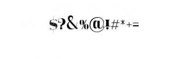 TheModish Font OTHER CHARS