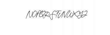 Theodore Handwritten Font UPPERCASE