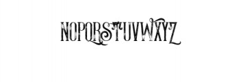 ThunderGrunge.otf Font UPPERCASE
