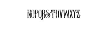ThunderGrunge.otf Font LOWERCASE