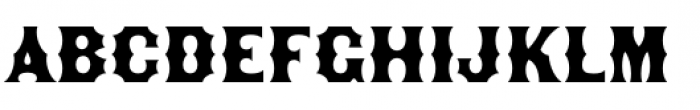 The Becker Gothics Concave Font LOWERCASE