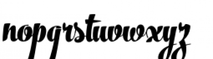 The Carpenter Black Font LOWERCASE