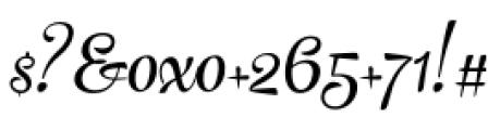 The Carpenter Regular Font OTHER CHARS