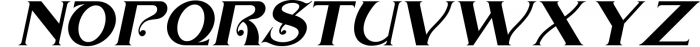 The Arthington Bonus 2 font. Font UPPERCASE