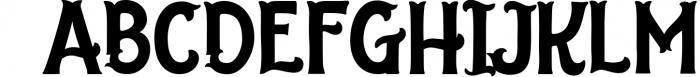 The Salvador 3 Font UPPERCASE